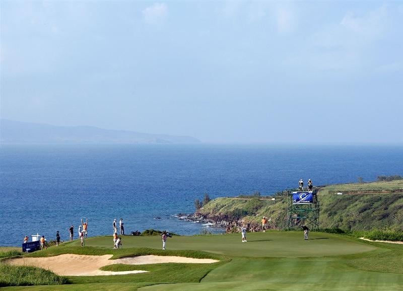 KAPALUA, HI - JANUARY 10:  A scenic view of the 11th hole during the third round of the Mercedes-Benz Championship at the Plantation Course on January 10, 2009 in Kapalua, Maui, Hawaii.  (Photo by Sam Greenwood/Getty Images)