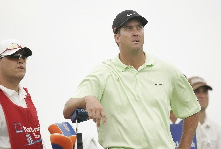 Chris Couch waits his turn in the tee box during the final round of the LaSalle Bank Open being held at the The Glen Club in Glenview, Illinois on June 12, 2005.Photo by Mike Ehrmann/WireImage.com