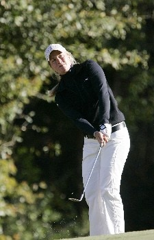 MOBILE, AL - NOVEMBER 8:  Suzann Pettersen of Norway chips to the par-3 17th green during first round play in The Mitchell Company LPGA Tournament of Champions at Magnolia Grove Golf Course November 8, 2007 in Mobile, Alabama.  (Photo by Dave Martin/Getty Images)