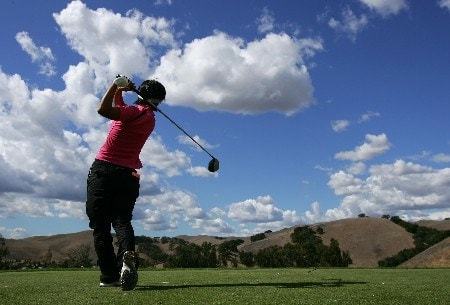 DANVILLE, CA - OCTOBER 5:  Mi Hyun Kim of South Korea makes a tee shot on the sixth hole during the second round of the LPGA Longs Drugs Challenge on October 5, 2007 at the Blackhawk Country Club in Danville, California.  (Photo by Robert Laberge/Getty Images)