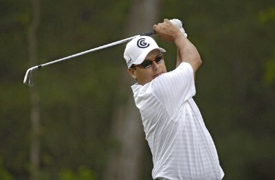 Omar Uresti In action during the frist round of the Shell Houston Open at the Redstone Golf Club,Tournament Course, Humble, Texas, on Thursday, April 20, 2006Photo by Marc Feldman/WireImage.com