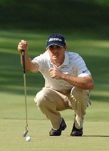 SILVIS, IL - JULY 15:  Jonathan Byrd during the final round of The John Deere Classic at the TPC Deere Run on July 15, 2007 in Silvis, Illinois.   (Photo by Marc Feldman/WireImage)  *** Local Caption *** Jonathan Byrd PGA TOUR - 2007 John Deere Classic - Final RoundPhoto by Marc Feldman/WireImage)  *** Local Caption *** Jonathan Byrd