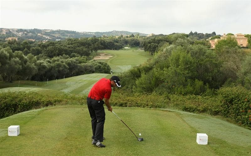 SOTOGRANDE, SPAIN - OCTOBER 29:  Sergio Garcia of Spain tee's off at the 4th during the second round of the Andalucia Valderrama Masters at Club de Golf Valderrama on October 29, 2010 in Sotogrande, Spain.  (Photo by Richard Heathcote/Getty Images)
