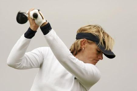 Liselotte Neumann before the final round of the 2005 Weetabix Women's British Open at the Royal Birkdale Golf Club. July 31, 2005Photo by Pete Fontaine/WireImage.com