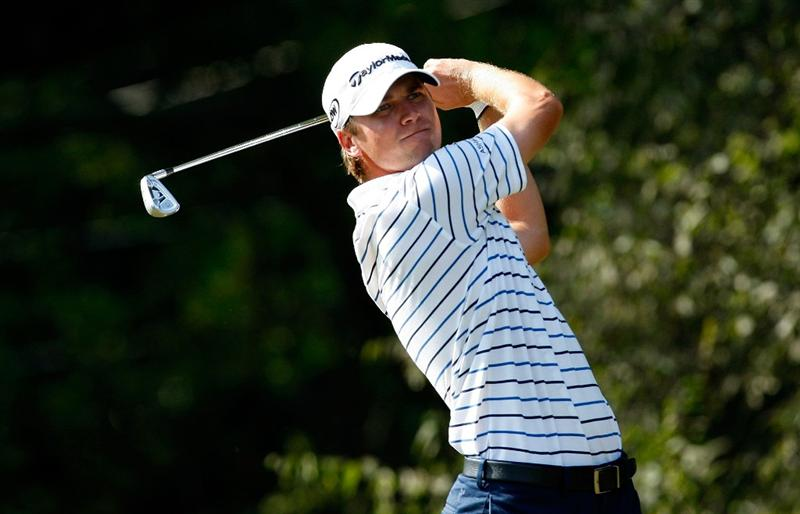 ATLANTA, GEORGIA - SEPTEMBER 25:  Sean O'Hair tees off the 11th hole during the second round of THE TOUR Championship presented by Coca-Cola, the final event of the PGA TOUR Playoffs for the FedExCup, at East Lake Golf Club on September 25, 2009 in Atlanta, Georgia.  (Photo by Kevin C. Cox/Getty Images)