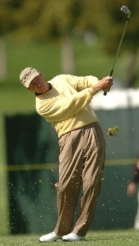 Mike Reid hits his approach shot to the 18th green  during the second round of the Champions' Tour 2005 Toshiba Senior Classic at  the Newport Beach Country Club in Newport Beach, California March 19, 2005.