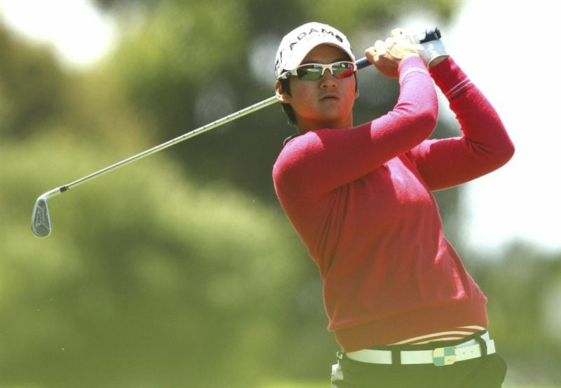 MELBOURNE, AUSTRALIA - FEBRUARY 06:  Yani Tseng of Taiwan plays a shot during day four of the Women's Australian Open at The Commonwealth Golf Club on February 6, 2011 in Melbourne, Australia.  (Photo by Lucas Dawson/Getty Images)