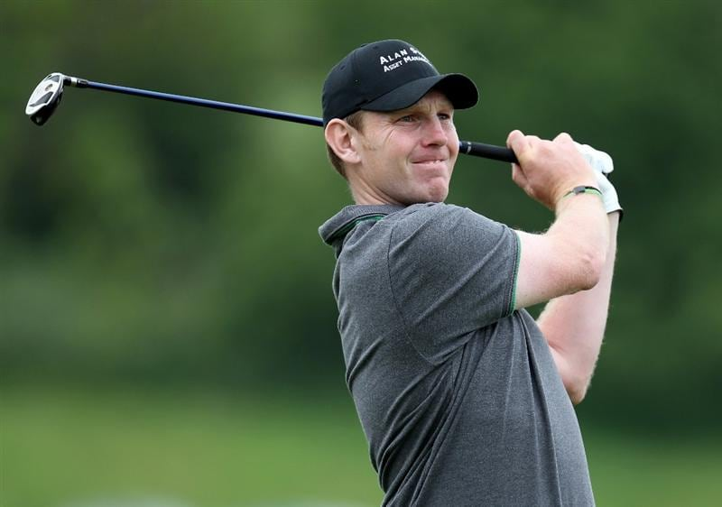 NEWPORT, WALES - JUNE 06: Stephen Gallacher of Scotland during the final round of the Celtic Manor Wales Open on the 2010 Course at the Celtic Manor Resort on June 6, 2010 in Newport, Wales.  (Photo by Ross Kinnaird/Getty Images)