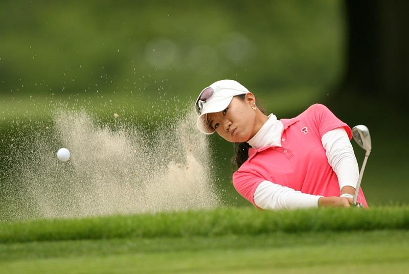 CLIFTON, NJ - MAY 16 : Ji Young Oh of South Korea hits her third shot on the 13th hole during the third round of the Sybase Classic presented by ShopRite at Upper Montclair Country Club on May 16, 2009 in Clifton, New Jersey. (Photo by Hunter Martin/Getty Images)