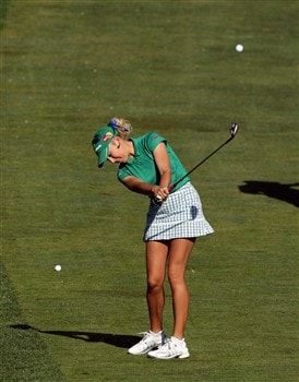 EDINAH, MN - JUNE 24:  Natalie Gulbis of the USA hits from the 3rd fairway during practice for the 2008 US Womens Open Championship held at The Interlachen Country Club, on June 24, 2008 in Edinah, Minnesota.  (Photo by David Cannon/Getty Images)