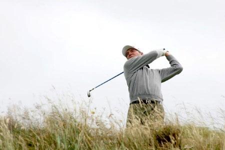 Des Smyth during the third round of the 2005 Senior British Open at the Royal Aberdeen Golf Club in Aberdeen, Scotland on July 23, 2005.Photo by Newsline Scotland/WireImage.com