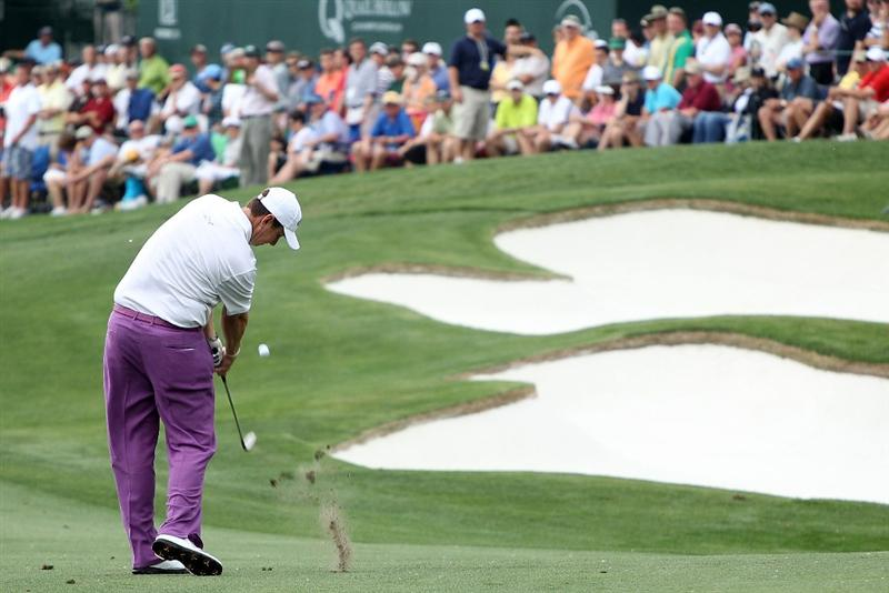 CHARLOTTE, NC - MAY 01:  J.J. Henry hits a shot on the 14th hole during the third round of the 2010 Quail Hollow Championship at the Quail Hollow Club on May 1, 2010 in Charlotte, North Carolina.  (Photo by Scott Halleran/Getty Images)
