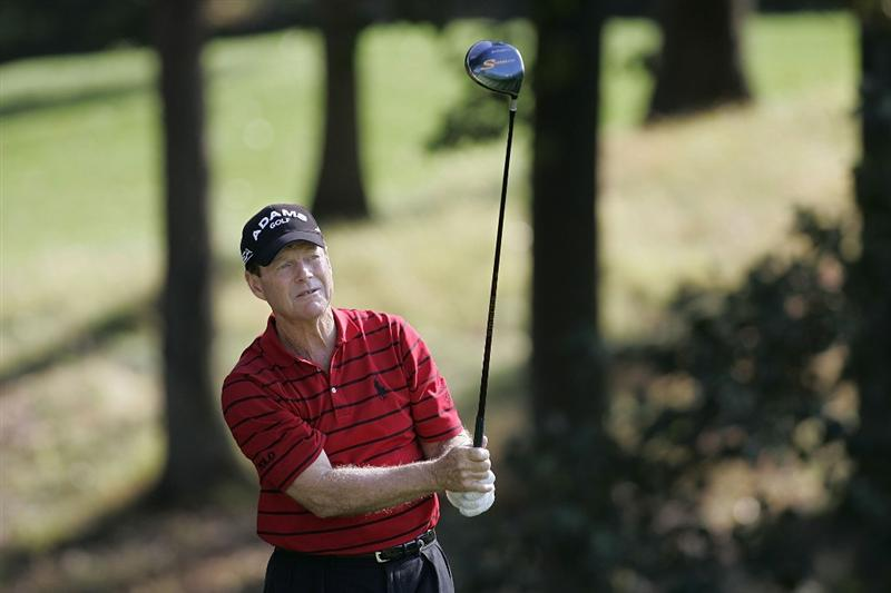 TIMONIUM, MD - OCTOBER 04: Tom Watson hits his drive on the 13th hole during the final round of the Constellation Energy Senior Players Championship at Baltimore Country Club/Five Farms (East Course) held on October 4, 2009 in Timonium, Maryland (Photo by Michael Cohen/Getty Images)
