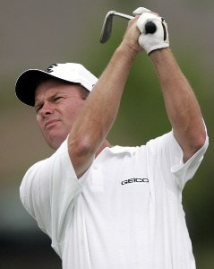 Joe Durant during the final round of the Zurich Classic of New Orleans at the English Turn Golf & Country Club in New Orleans, Louisiana on April 30, 2006.Photo by Gregory Shamus/WireImage.com
