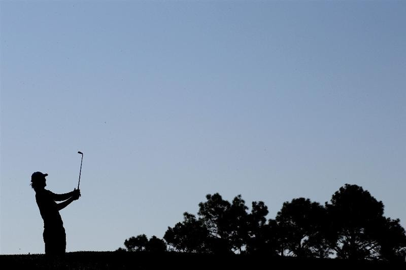 AUGUSTA, GA - APRIL 09:  Chris Wood of England hits a shot on the fourth tee during the second round of the 2010 Masters Tournament at Augusta National Golf Club on April 9, 2010 in Augusta, Georgia.  (Photo by Jamie Squire/Getty Images)