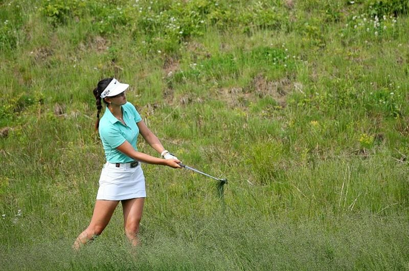 GLADSTONE, NJ - MAY 22: Michelle Wie hits her second shot on the fifteenth hole during the third round of the Sybase Match Play Championship at Hamilton Farm Golf Club on May 22, 2010 in Gladstone, New Jersey. (Photo by Hunter Martin/Getty Images)