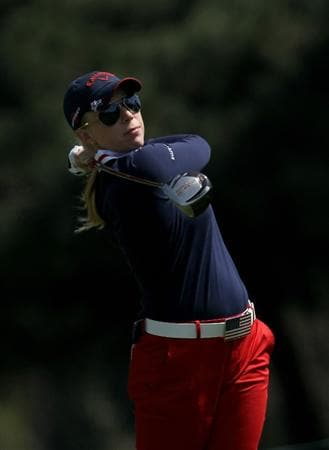 CARLSBAD, CA - MARCH 25:  Morgan Pressel hits her tee shot on the seventh hole during the first round of the Kia Classic Presented by J Golf at La Costa Resort and Spa on March 25, 2010 in Carlsbad, California.  (Photo by Stephen Dunn/Getty Images)