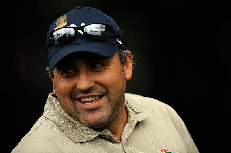 FARMINGDALE, NY - JUNE 16:  Angel Cabrera of Argentina waits on a tee box during the second day of previews to the 109th U.S. Open on the Black Course at Bethpage State Park on June 16, 2009 in Farmingdale, New York.  (Photo by Sam Greenwood/Getty Images)