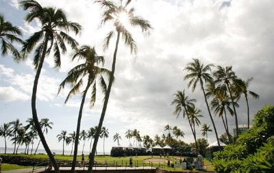 A scenic view of the course at the 17th green during the third round of the Sony Open in Hawaii held at Waialae Country Club January 12, 2008 in Honolulu, Hawaii. PGA TOUR - 2008 Sony Open in Hawaii - Third RoundPhoto by Stan Badz/PGA TOUR/WireImage.com