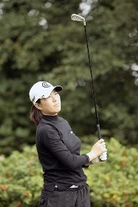 Korea's Shi Hyun Ahn in action during the third round of the 2006 Weetabix Women's British Open at the Royal Lytham and St. Annes Golf Club. August 5, 2006.Photo by Pete Fontaine/WireImage.com