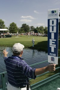 A volunteer during the third round of the Stanford St. Jude Championship held at TPC Southwind in Memphis, Tennessee, on June 9, 2007. Photo by: Stan Badz/PGA TOURPhoto by: Stan Badz/PGA TOUR