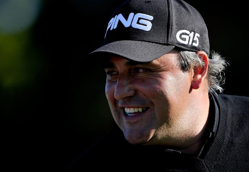 PALM BEACH GARDENS, FL - MARCH 04:  Angel Cabrera of Argentina smiles during the first round of the Honda Classic at PGA National Resort And Spa on March 4, 2010 in Palm Beach Gardens, Florida.  (Photo by Sam Greenwood/Getty Images)