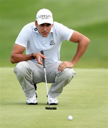 NEWPORT, WALES - JUNE 03: Rafael Cabrera-Bello of Spain during the first round of the Celtic Manor Wales Open on the 2010 Course at the Celtic Manor Resort on June 3, 2010 in Newport, Wales.  (Photo by Ross Kinnaird/Getty Images)