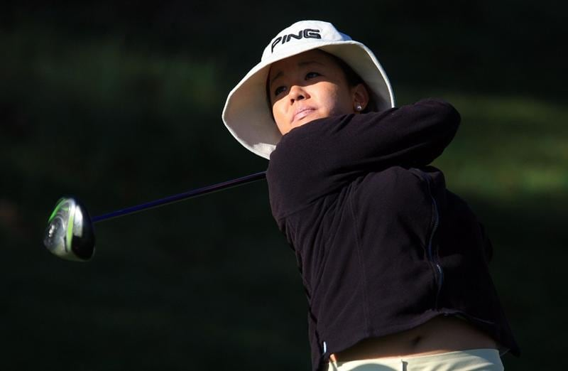 HUIXQUILUCAN, MEXICO - MARCH 20:  Jane Park of the USA watches her tee shot on the 10th hole during the first round of the MasterCard Classic at the BosqueReal Country Club on March 20, 2009 in Huixquiucan, Mexico.  (Photo by Scott Halleran/Getty Images)