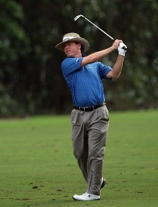 Briny Baird hits his second shot on the 18th hole of the Palm Course during the second round of The Childrens Miracle Network Classic held at The Disney Shades of Green Resort on November 2, 2007 in Orlando, Florida, PGA TOUR - 2007 Children's Miracle Network Classic presented by Wal-Mart - Second RoundPhoto by David Cannon/WireImage.com