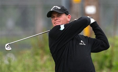 PEEBLES, UNITED KINGDOM - JUNE 27:  David Drysdale of Scotland in action during Round Two of the Scottish Challenge at Macdonald Cardrona Hotel Golf and Country Club on June 27, 2008 in Peebles, Scotland.  (Photo by Hamish Blair/Getty Images)