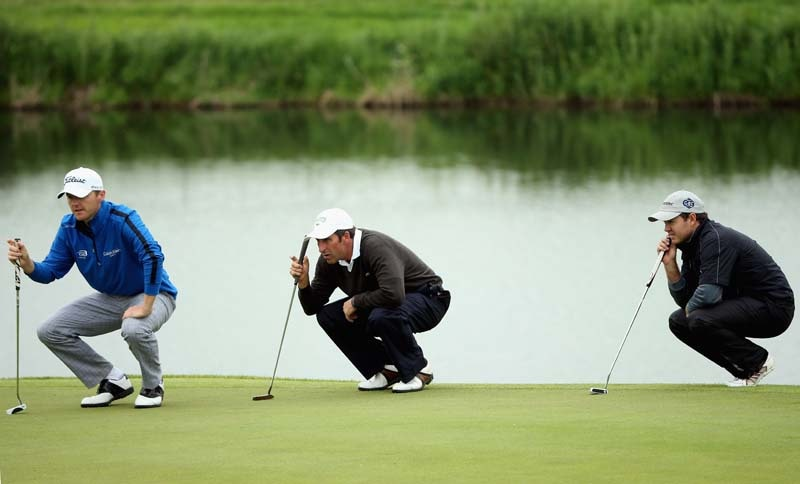 Michael Hoey, Jose Maria Olazabal and Richard Sterne