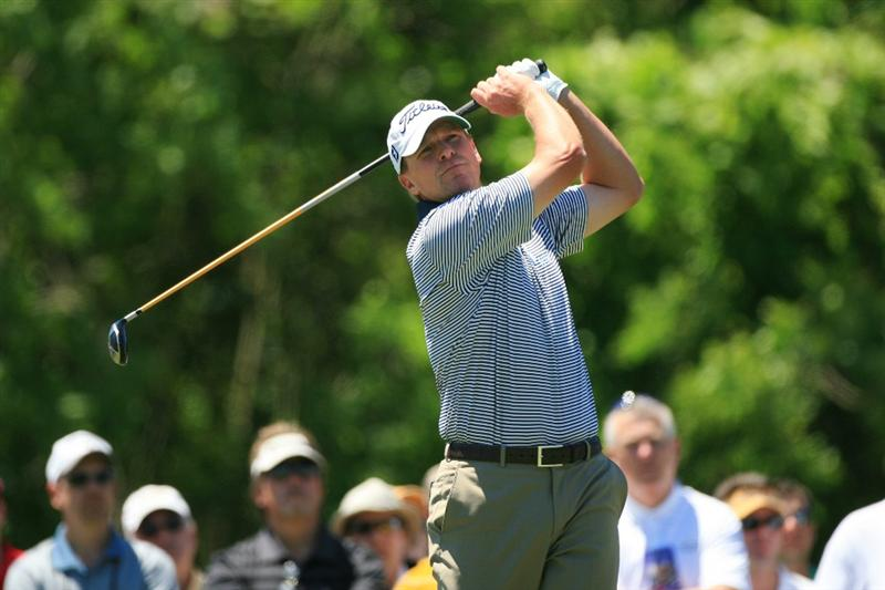 NEW ORLEANS, LA - APRIL 29: Steve Stricker hits his tee shot on the eighth hole during the second round of the Zurich Classic at the TPC Louisiana on April 29, 2011 in New Orleans, Louisiana. (Photo by Hunter Martin/Getty Images)