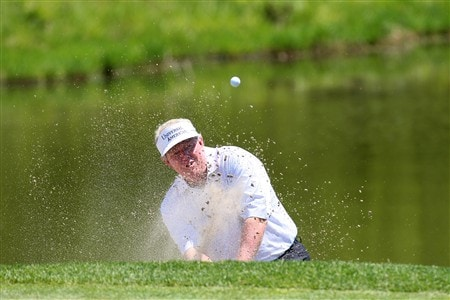 WEST DES MOINES, IA - JUNE 1:  Andy Bean hits out of a trap on the 2nd hole during the final round of the Principal Charity Classic on June 1, 2008 at Glen Oaks Country Club in West Des Moines, Iowa. (Photo by G. Newman Lowrance/Getty Images)