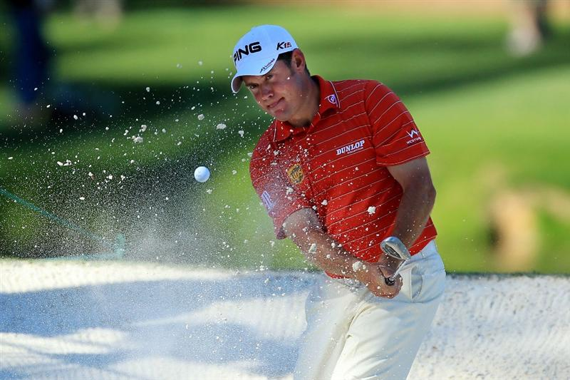 AUGUSTA, GA - APRIL 06:  Lee Westwood of England plays a shot during the Par 3 Contest prior to the 2011 Masters Tournament at Augusta National Golf Club on April 6, 2011 in Augusta, Georgia.  (Photo by David Cannon/Getty Images)