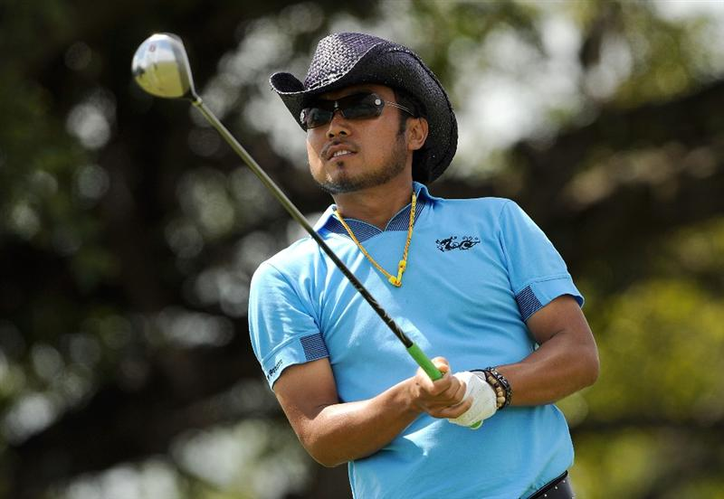 DORAL, FL - MARCH 14:  Shingo Katayama of Japan hits during the third round of the World Golf Championships-CA Championship at the Doral Golf Resort & Spa on March 14, 2009 in Doral, Florida.  (Photo by Sam Greenwood/Getty Images)