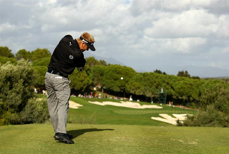 SOTOGRANDE, SPAIN - OCTOBER 31:  Soren Kjeldsen of Denmark tee's off at the 15th during the final round of the Andalucia Valderrama Masters at Club de Golf Valderrama on October 31, 2010 in Sotogrande, Spain.  (Photo by Richard Heathcote/Getty Images)