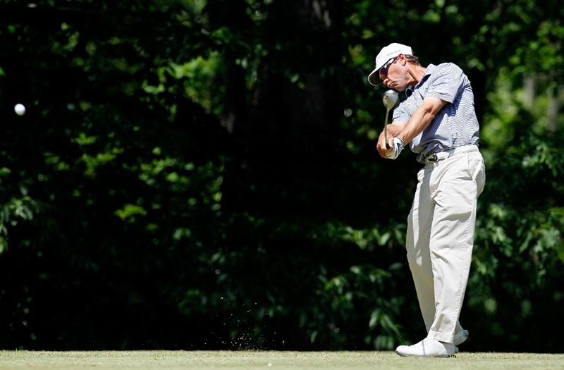 ATHENS, GA - APRIL 29:  Jeff Brehaut tees off the sixth hole during the first round of the 2010 Stadion Athens Classic at the University of Georgia Golf Course on April 29, 2010 in Athens, Georgia.  (Photo by Kevin C. Cox/Getty Images)