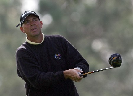 LA JOLLA, CA - JANUARY 24:  Tom Lehman watches his tee shot on the 11th hole during the first round of the Buick Invitational at the Torrey Pines Golf Course January 24, 2008 in La Jolla, California.  (Photo by Harry How/Getty Images)