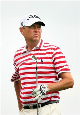HUMBLE, TX - APRIL 1: Davis Love III watches his tee shot on the second hole during the first round of the Shell Houston Open at Redstone Golf Club on April 1, 2010 in Humble, Texas. (Photo by Hunter Martin/Getty Images)