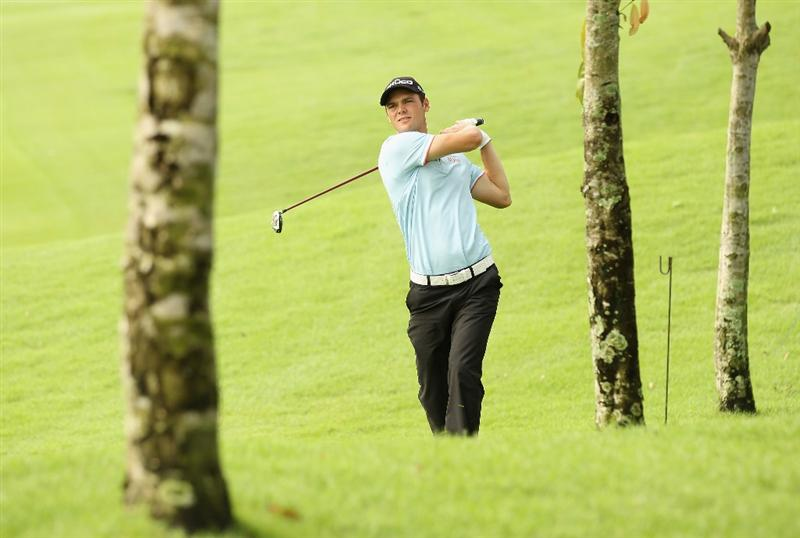 KUALA LUMPUR, MALAYSIA - APRIL 13:  Martin Kaymer of Germany in action during a practice round ahead of the Maybank Malaysian Open at Kuala Lumpur Golf & Country Club on April 13, 2011 in Kuala Lumpur, Malaysia.  (Photo by Ian Walton/Getty Images)