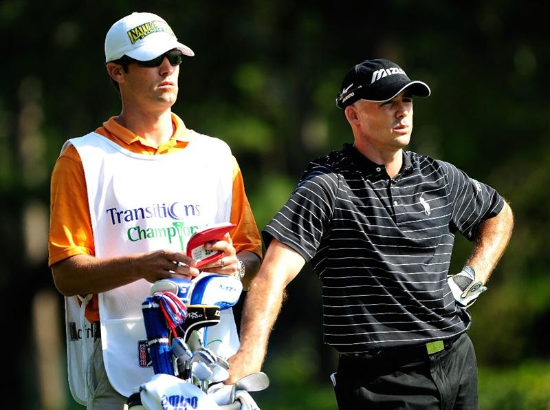 PALM HARBOR, FL - MARCH 20:  Jonathan Byrd checks the yardage prior to playing a shot on the 13th hole during the second round of the Transitions Championship at the Innisbrook Resort and Golf Club on March 20, 2009 in Palm Harbor, Florida.  (Photo by Sam Greenwood/Getty Images)