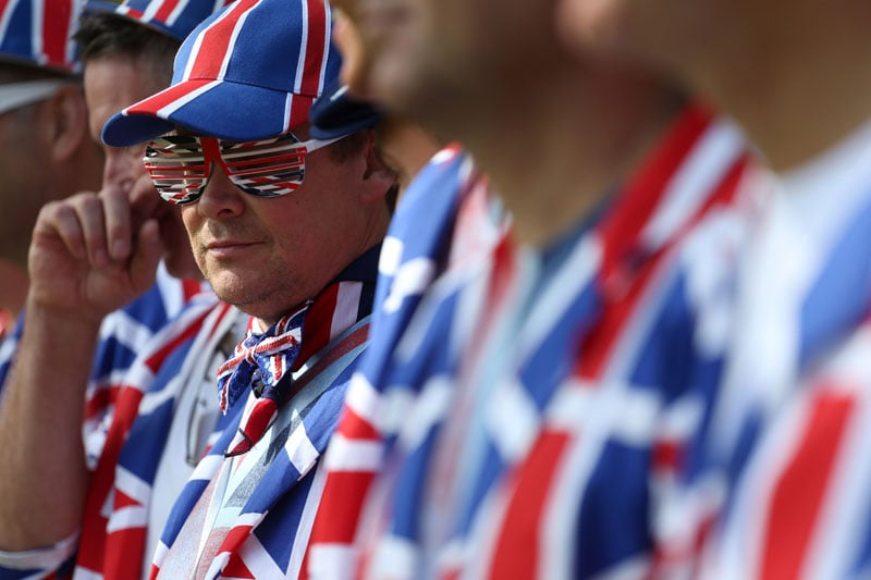 British fans at the 39th Ryder Cup