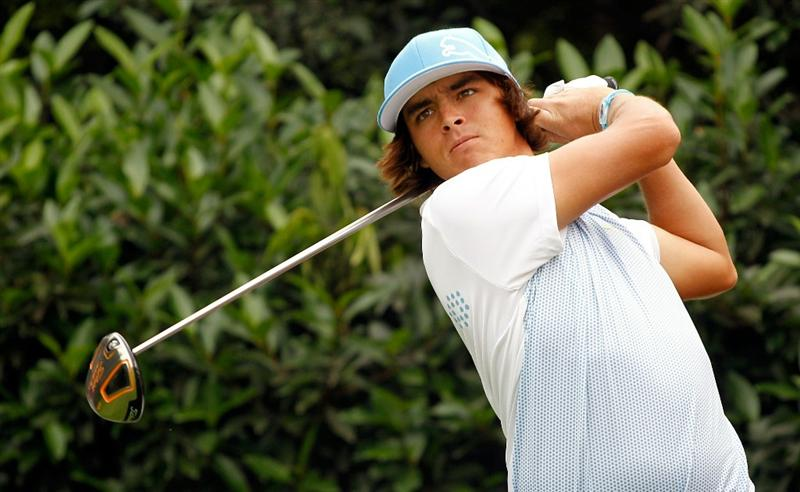 SHANGHAI, CHINA - NOVEMBER 02:  Rickie Fowler of the USA in action during practice prior to the start of the WGC-HSBC Champions at Sheshan International Golf Club on November 2, 2010 in Shanghai, China.  (Photo by Scott Halleran/Getty Images)
