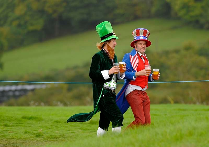 Fans dress up to support their Ryder Cup teams