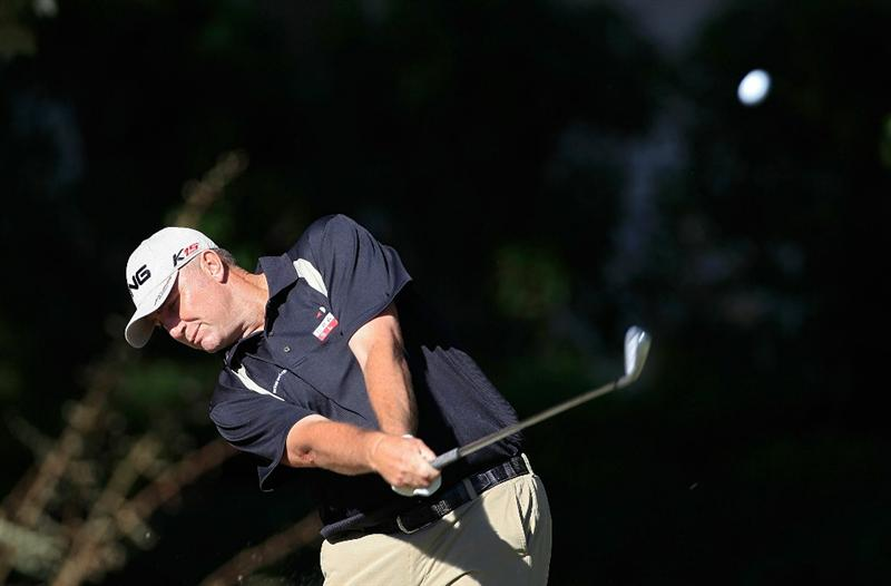MADISON, MS - OCTOBER 01: Bill Lunde hits a shot during the second round of the Viking Classic held at Annandale Golf Club on October 1, 2010 in Madison, Mississippi.  (Photo by Michael Cohen/Getty Images)