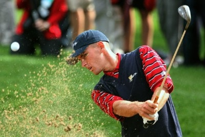 Charles Howell III of the U.S. Team plays a bunker shot during practice prior to the start of The Presidents Cup at The Royal Montreal Golf Club on September 26, 2007 in Montreal, Quebec, Canada. PGA TOUR - 2007 The Presidents Cup - September 26, 2007Photo by Scott Halleran/WireImage.com