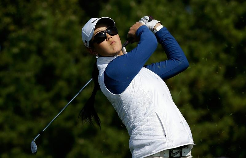 INCHEON, SOUTH KOREA - OCTOBER 30:  Michelle Wie of United States hits a tee shot on the 3rd hole during the 2010 LPGA Hana Bank Championship at Sky 72 Golf Club on October 30, 2010 in Incheon, South Korea.  (Photo by Chung Sung-Jun/Getty Images)