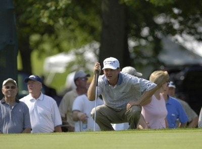 Jason Bohn during the third round of the U.S. Bank Championship in Milwaukee at Brown Deer Park Golf Course in Milwaukee, Wisconsin, on July 29, 2006.Photo by Steve Levin/WireImage.com