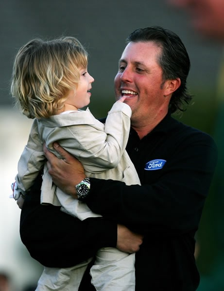 Phil Mickelson and son Evan