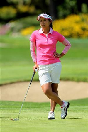 CARLSBAD, CA - MARCH 27:  Ai Miyazato of Japan waits to putt on the second hole during the third round of the Kia Classic Presented by J Golf at La Costa Resort and Spa on March 27, 2010 in Carlsbad, California.  (Photo by Stephen Dunn/Getty Images)